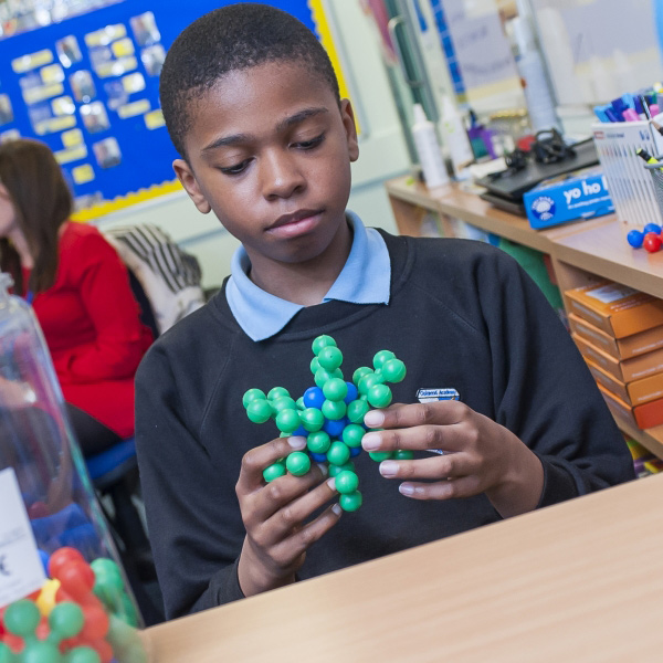 Pupil in class at Oakwood Academy